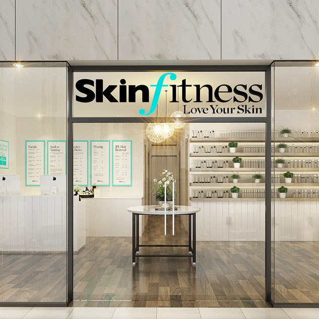 3D Render for a beauty salon concept - Shopping centre in Singapore Skin Fitness