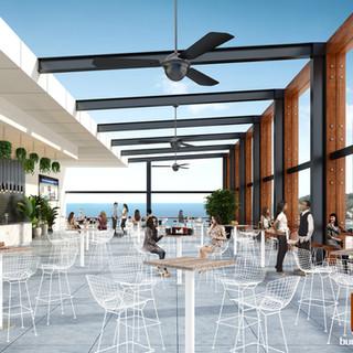 Rooftop Bar Concept 3D render - Surfers Paradise, Gold Coast QLD