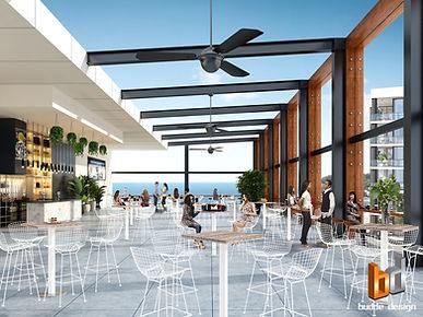 elvio rooftop bar concept 3D Render Surf
