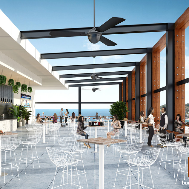 Rooftop Bar Concept 3D render - Surfers Paradise, Gold Coast QLD
