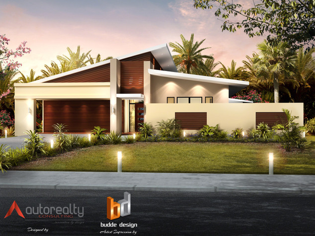 3D Artist Impression for a proposed residence in Jakarta - design by Autorealty, Artist Impression by Budde Design - Jakarta Indonesia