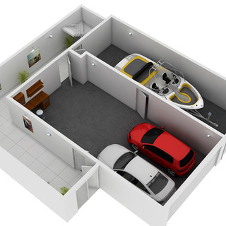 3D Floor Plan for Real Estate Marketing Culburra Beach NSW - Street Level