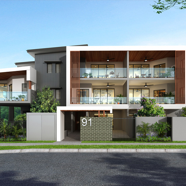3D Render for a development in Alderley QLD