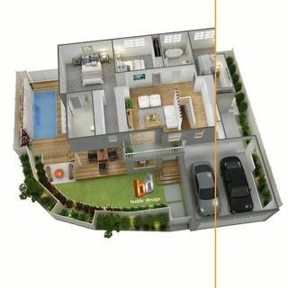 3D Floor Plan Overlay, Burleigh Waters Gold Coast QLD
