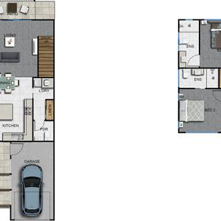 3 Bedroom 2 level townhouse, unit, house part of a 29 unit development - Ormeau Oaks, Ormeau Hills QLD