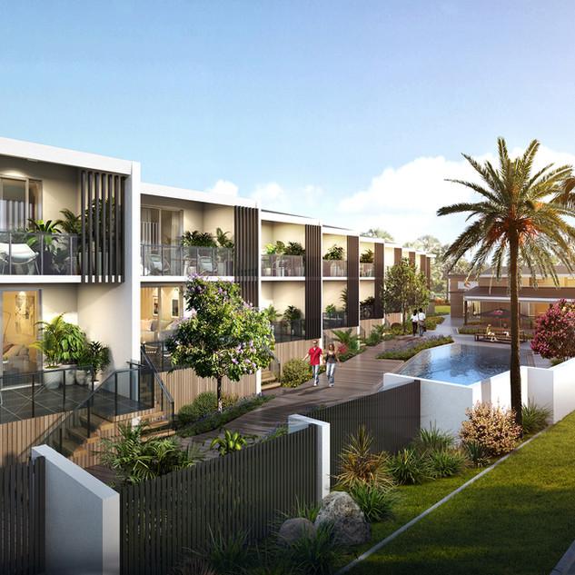 RML Group Artist Impression Beach front villas, woodgate beach QLD
