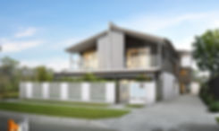 3D Rendering Brisbane street frnt 4 townhouse project by Budde Design