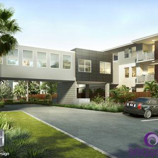 Seasons Aged Care Mango Hill, Brisbane QLD 3D bridge render