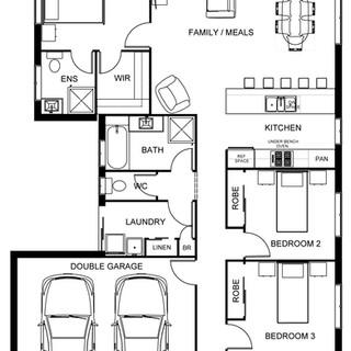 Professional 2D Floor Plan for Marketing - Black