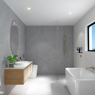 3D Internal Bathroom render, development project Scarborough QLD