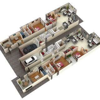 3D floor plan of a duplex design for marketing purposes - Whyalla SA