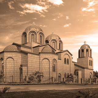 3D Architectural Render of a proposed church - Angove St Perth WA