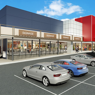 3D Artist Impression render for a commercial shopping centre development - Underwood QLD