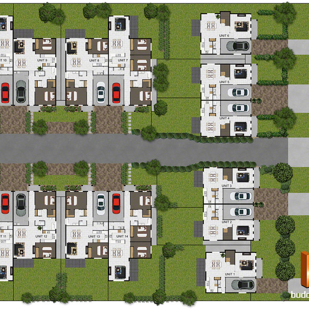 2D colour site plan for marketing purposes - Schofields NSW
