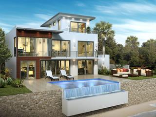 3D Artist Impression, 3D Architectural Rendering Rear - Cayman Islands