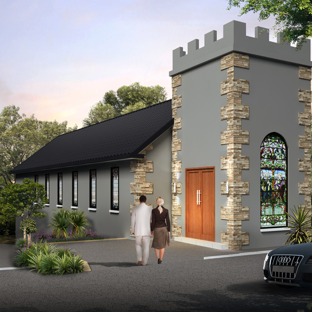 3D Architectural Render of a Wedding Chapel - Brisbane QLD