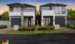 Artist Impression Sydney Area - Dual Occupancy townhouse development - Revesby NSW