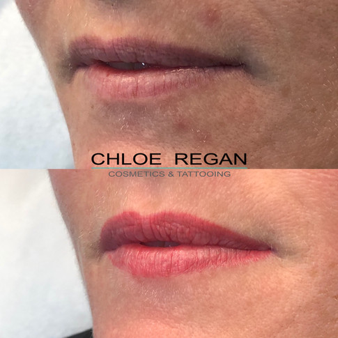 Lip Cosmetic Tattoo Healed Work