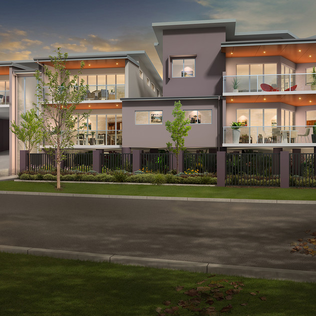 3D external Artist Impression for a development project - Indooroopilly, Brisbane, QLD
