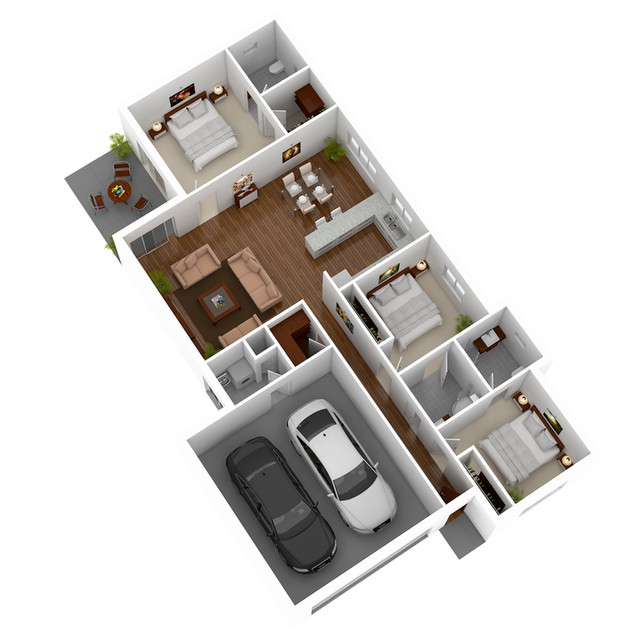 3D Floor Plan for a display home - Spencer Gulf SA