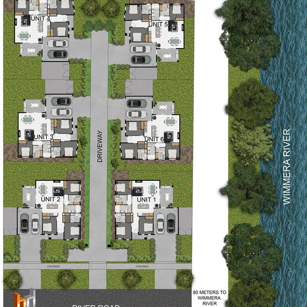 2D colour site plan for a Development project - Horsham Victoria