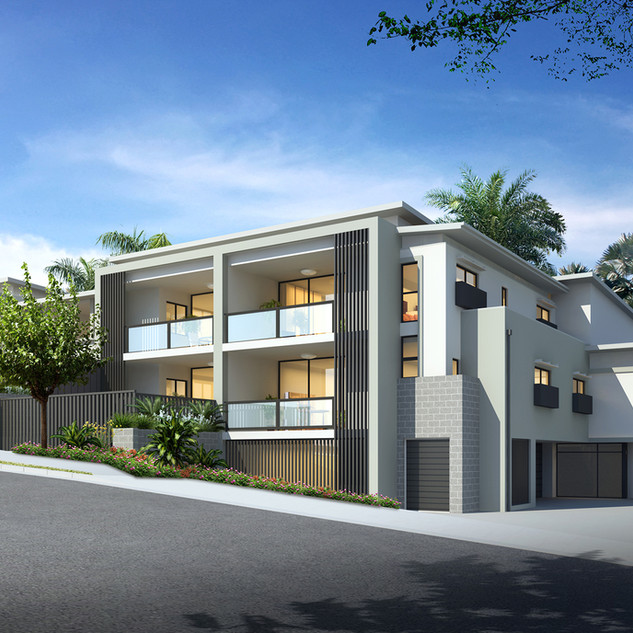 3D external Architectural visualisation for a development project - Carina Heights, Brisbane QLD