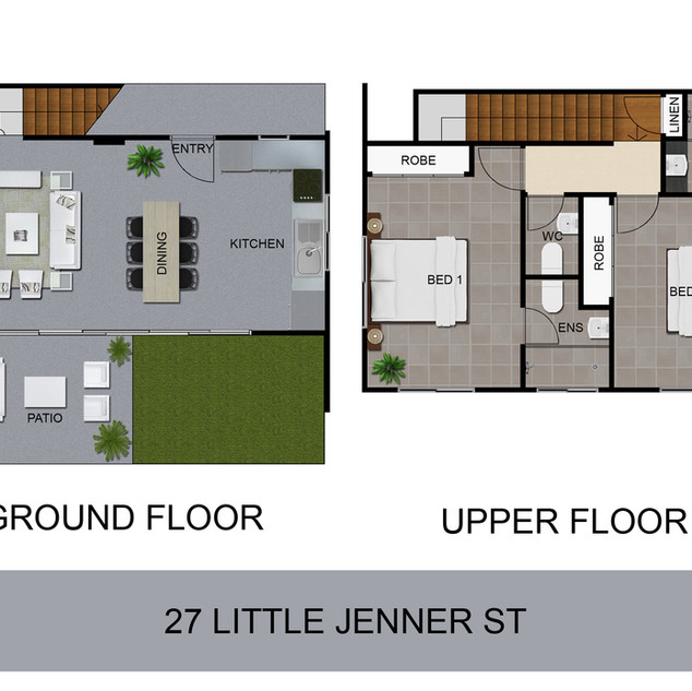 2D colour floor plan for a development project - Nundah, Brisbane QLD
