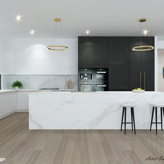 3D Internal Kitchen Render - Kyle Bay NSW