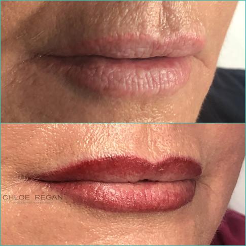 Lipline and Blend cosmetic lip tattoo