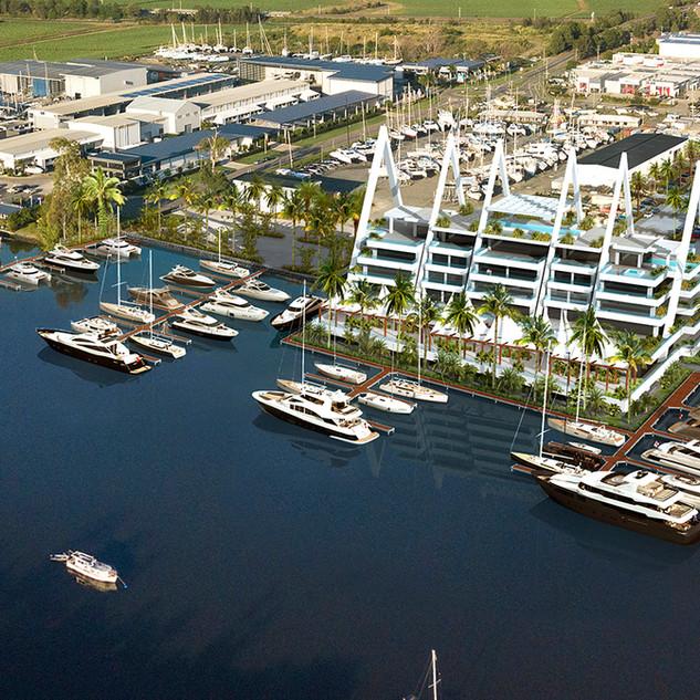 3D Photomontage Boat Works Boat Marina, Coomera, Gold Coats QLD