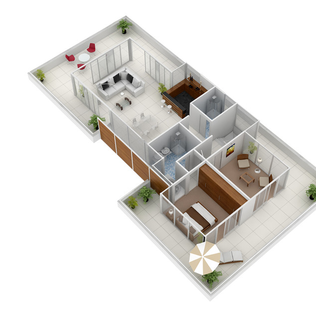 3D Floor Plan for Real Estate Marketing Culburra Beach NSW - First Floor