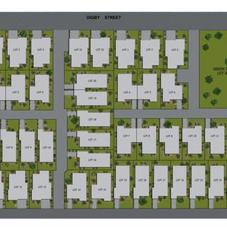 2D Colour Site plan of a housing development - Perth WA