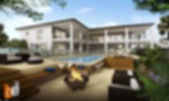 3D Artist Impression Sunshine Coast, outdoor living and pool area - Yandina QLD
