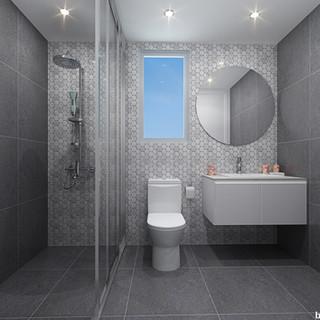 3D Rendering townhouse bathroom - Hedley Ave, Nundah QLD