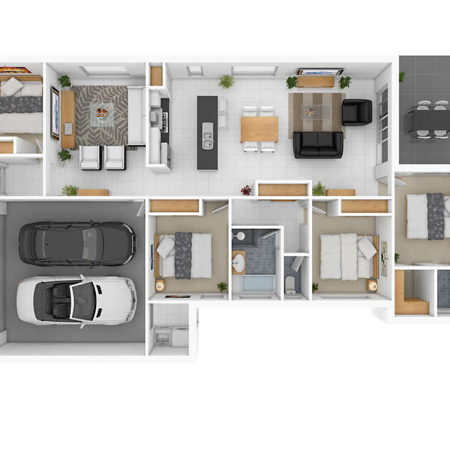 3D floor plan for a building company - Property development Gympie QLD