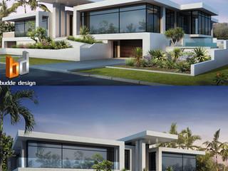 3D Rendering front facade Anglers Esplanade, Runaway Bay, Gold Coast QLD