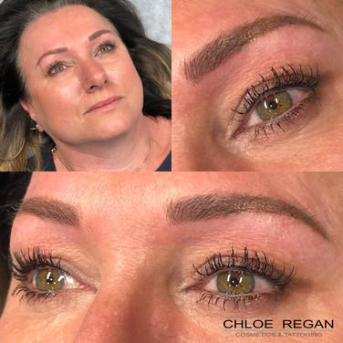 Eyebrow Tattoo Healed Work Eyebrow Cosmetic Tattoo