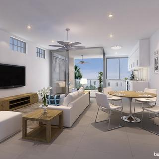 3D internal render - Morningside, Brisbane, QLD by Budde Design
