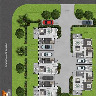 2D colour floor plan / site plan Toukley NSW