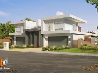 3D external Artist Impression Duplex design - Ocean Grove Victoria