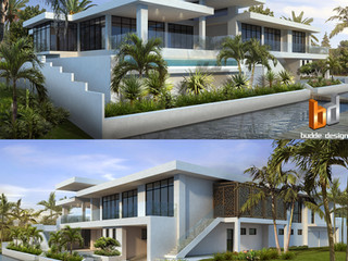 3D Rendering Canal Frontage Anglers Esplanade, Runaway Bay, Gold Coast QLD