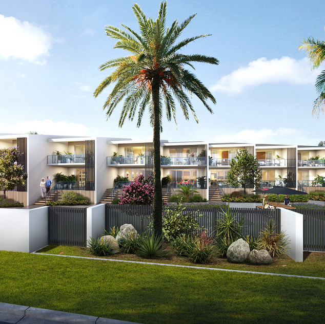Artist Impressions RML Group, Beach front villas Woodgate Beach QLD