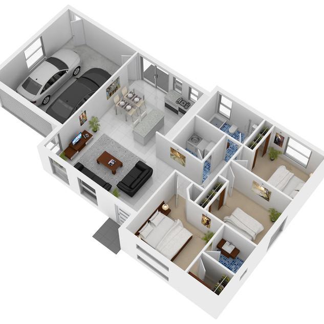 3D Floor Plan for a building company - Spring Farm