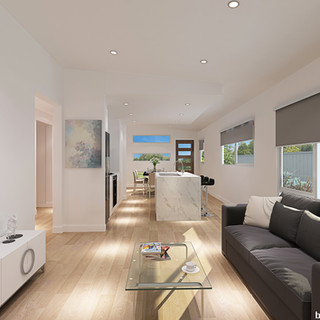3D Render living/kitchen area for a home building company - Bayswater Vic