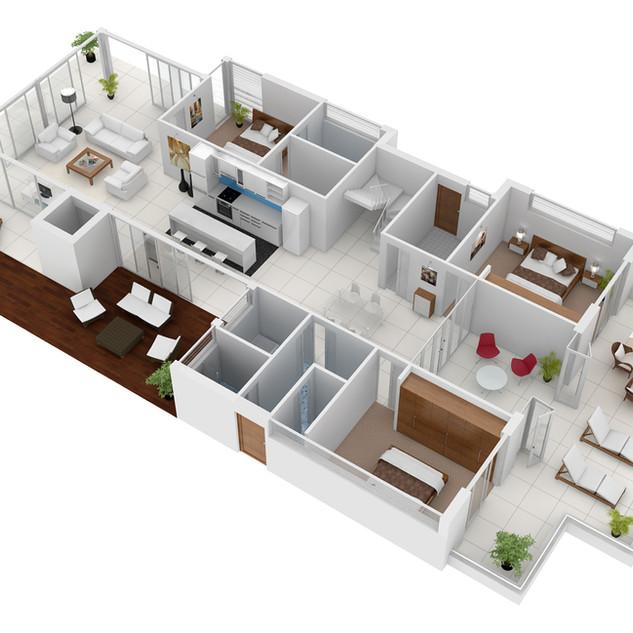 3D Floor Plan for Real Estate Marketing Culburra Beach NSW - Ground Floor