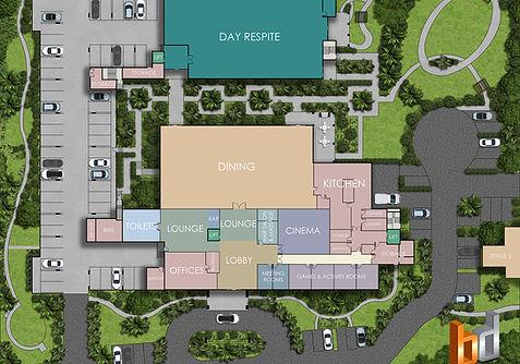 2D colour site plan Development project QLD Australia