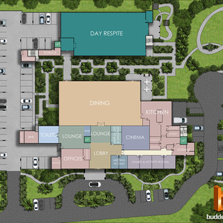 2D colour site plan Season aged care facility Brisbane QLD