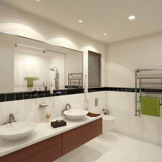3D Architectural Render Ensuite for a Multi Unit Development - Croydon Victoria by Budde Design