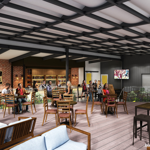 3D Artist Impression for a proposed bar extension and addition, House of brews Gold Coast QLD