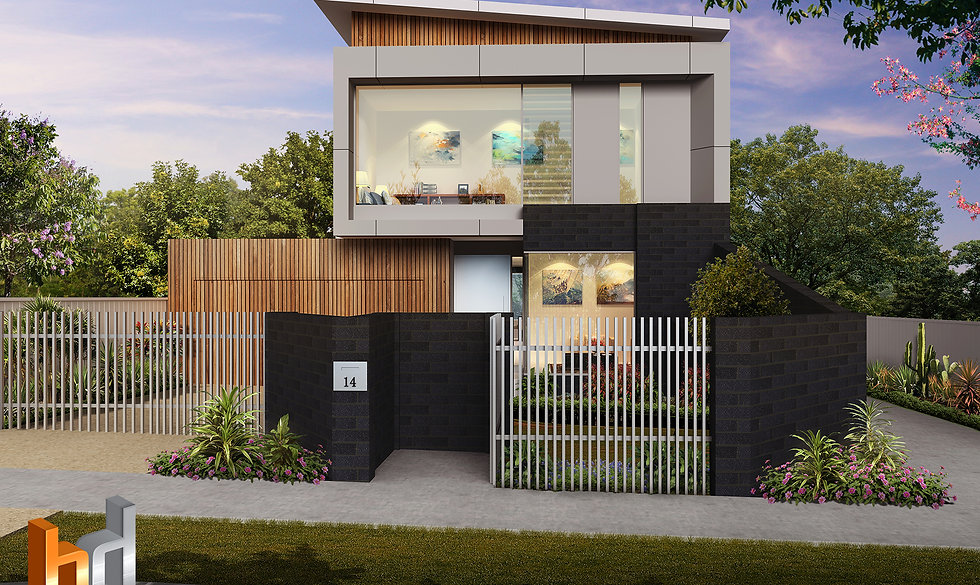 External Artist Impression Melbourne, image used for real estate marketing - Artist Impression Victoria - Strathmore